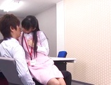 Aino Kishi Asian office lady gives some desktop sex for boss picture 14