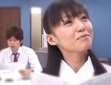 Aino Kishi Asian office lady gives some desktop sex for boss