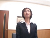 Beautiful office lady Akari Asahina gets pussy fingered picture 11