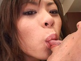 Cum on tits for amateur Japanese AV model in pov office sex picture 15