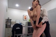 Naughty Japanese mature chick with big ass fucked under a tablehuge tits, asian boobs, big round tits