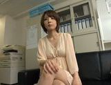 Arousing short-haired Asian model Yukina enjoys threesome picture 11