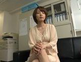 Arousing short-haired Asian model Yukina enjoys threesome picture 15