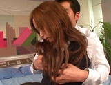Dirty porn play with curvy ass Japanese office lady