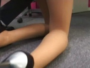 Peachy tits beauty gets hard fucked at the office
