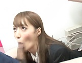 Fuyutsuki Kaede enjoys doggy fuck in office picture 12