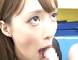 Fuyutsuki Kaede enjoys doggy fuck in office picture 14