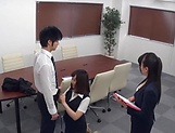 Stunning Japanese office lady fucked hard picture 10