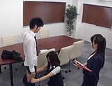 Stunning Japanese office lady fucked hard picture 11