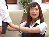 Stunning Japanese office lady fucked hard picture 13
