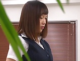 Stunning Japanese office lady fucked hard picture 2