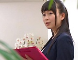 Stunning Japanese office lady fucked hard picture 7