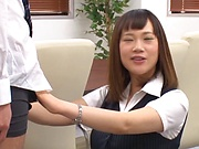 Stunning Japanese office lady fucked hard
