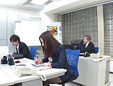 Mukai Ren gets rammed really good in office picture 2
