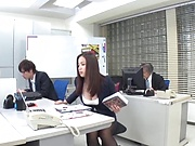 Mukai Ren gets rammed really good in office