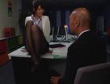 Nanami Kawakami strong office footjob session picture 11