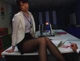 Nanami Kawakami strong office footjob session picture 14