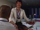 Nanami Kawakami strong office footjob session