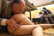 Pretty office lady in a sexy costume fucked by her ugly bossasian boobs, big tits porn, huge boobs