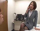 Superb Asian babe gives a wild footjob