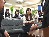 Haruka Miura endures rough sex in group at work picture 13