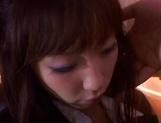 Lusty Yuki thrives in cock sucking