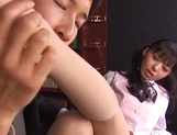 Aino Kishi, naughty Asian office lady gets foot licking from boss picture 13