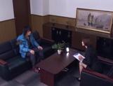 Sizzling Japanese office lady Akari Asahina gives a handjob picture 14