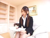 Ai Sayama Japanese office lady gets hot tit fuck picture 15