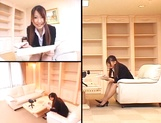 Ai Sayama Japanese office lady gets hot tit fuck