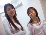 Mind blowing threesome with two office beauties