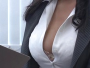 Cock loving Asian babe loves sucking a cock