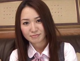 Yummy office girl Sakura Morino licks balls and gets drilled and banged
