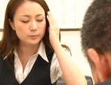 Asian office lady Rin Ayame gets licked and fucked in harsh ways picture 3