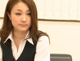 Asian office lady Rin Ayame gets licked and fucked in harsh ways picture 4