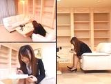 Hot busty office lady Ai Sayama fucked hard from behind