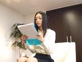 Skinny office secretary Aino Kishi seduces a handsome guy fucks him hard