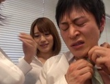 Riko Honda, Risa Kasumi and their colleagues in nasty gangbang picture 15