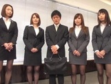 Riko Honda, Risa Kasumi and their colleagues in nasty gangbang