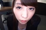 Stunning office babe, Sakuragi Yukine gives a steaming POV blowjobjapanese tits, asian tits