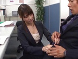 Kinky office lady banged on the table picture 12