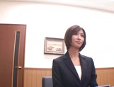 Gorgeous office lady Akari Asahina spreads legs in front of her amazed client