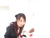 Hot Asian office babe Rei Itoh gives a tit fuck and sucks dick