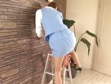 Hot leggy office secretary gets fucked doggie fashion
