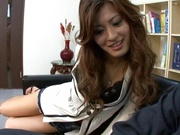 Pretty coquette Aki Asada in a wild office fuck