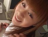 Very sweet redhead milf Hina Aizawa gets pussy drilled
