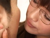 Sexy Asian teacher blows cock and enjoys hardcore sex picture 10