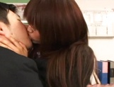 Sexy Asian teacher blows cock and enjoys hardcore sex picture 11