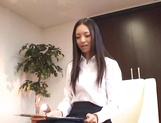 Naugthy Asian babe Aino Kishi sucks dick and spits sperm picture 15