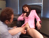Sexy office lady, Maria Fujisawa, in fancy pink costume gets banged picture 12